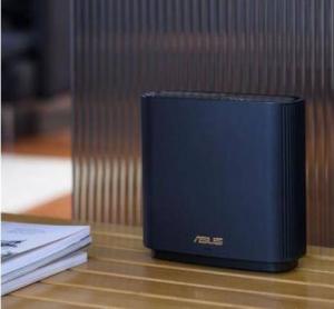 PLUS会员:ASUS 华硕 AX6600M  三频无线路由器 WiFi6(黑色单只装)