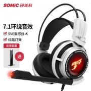 SOMiC 硕美科 G941 耳罩式头戴式有线游戏耳机 白色129元包邮(双重优惠)