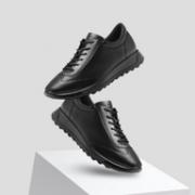 ECCO 爱步 FLEXURE随溢系列 女士系带真皮低帮运动鞋
