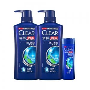 88VIP:CLEAR 清扬 活力运动型薄荷洗发水500g*2+100g