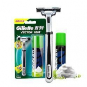 Gillette 吉列 旋转双层手动剃须刀组合装(1刀架+1刀头+剃须泡50g)9.9元