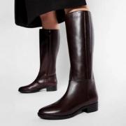 GEOX 健乐士 D Felicity D 女士真皮拉链长靴 D84G1D00043 到手¥591.99