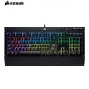 PLUS会员:USCORSAIR 美商海盗船 K68 104键 有线机械键盘 黑色 Cherry红轴 RGB