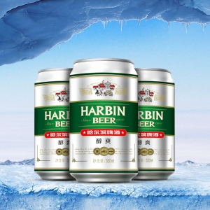 Harbin/哈尔滨啤酒 醇爽330ml*24听 整箱装易拉罐装