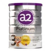 a2 艾尔 新西兰原装进口 a2 白金版 幼儿配方奶粉 3段(1-3岁) 900g/罐139.44元(需买2件,共278.89元)