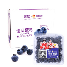 PLUS会员:JAVA 佳沃 国产蓝莓原箱 12盒装 约125g/盒