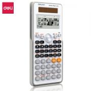 deli 得力 82CN 中文版双电源大屏函数计算器 白色45.67元(需买3件,共137元,需用券)