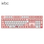 iKBC W210 机械键盘 红轴 樱花粉589元
