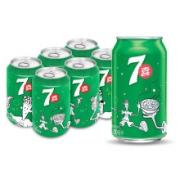 plus会员、限地区: 七喜7up 柠檬味 碳酸饮料 330ml*6听9.22元(需运费)