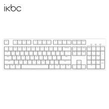 PLUS会员:iKBC C104 104键 有线机械键盘 正刻 白色 Cherry红轴 无光