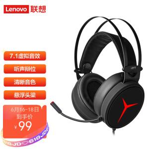 Lenovo 联想 拯救者Star系列 Y360 有线头戴式游戏耳机 黑色