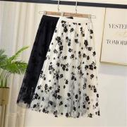 La Chapelle 拉夏贝尔  碎花伞裙 网纱裙  9T212BB520203