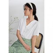 PLUS会员:FANSILANEN 范思蓝恩 Z211249 女士衬衫