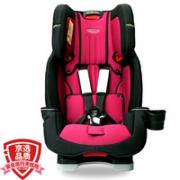 GRACO 葛莱 美国GRACO葛莱儿童安全座椅0-4-12岁汽车用新生婴儿宝宝座椅双向可调座躺 基石守护者(紫棠色)