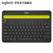 logitech 罗技 K480 蓝牙无线薄膜键盘 深沉黑 无光139元