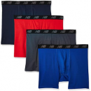 prime会员!New Balance 男士运动平角内裤 4条装  含税直邮到手¥93.43¥85.64