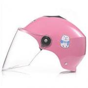 HELMO 电瓶车头盔 粉色小熊白镜