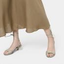 CHARLES&KEITH2021春夏CK1-60900135女士绳结饰露趾绑带凉鞋