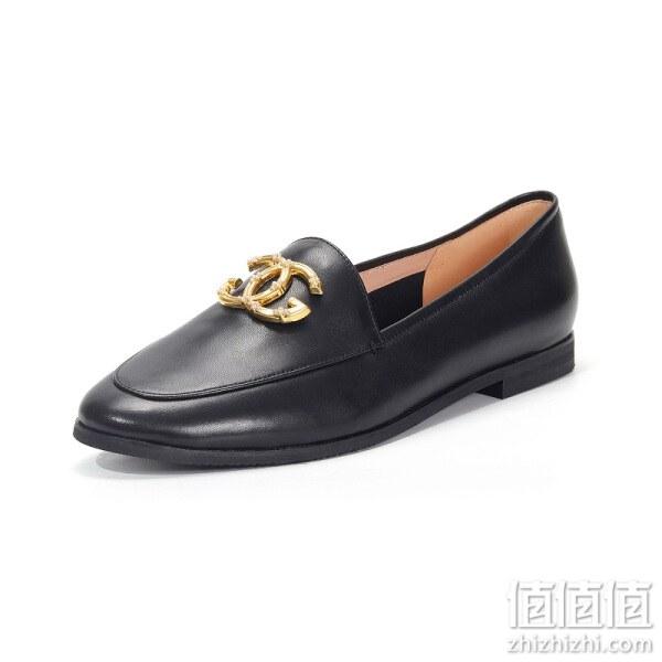St&Sat 极简素面圆尖楦头平底鞋