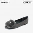 Daphne 达芙妮优雅兔毛平底单鞋