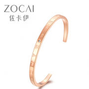 ZOCAI 佐卡伊 Z00242_1 男女同款手镯 窄版
