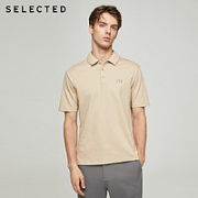 SELECTED 思莱德 420306014 男士翻领短袖T恤