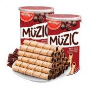 88VIP:munchy's 马奇新新 巧克力注芯蛋卷威化饼干85g*2罐