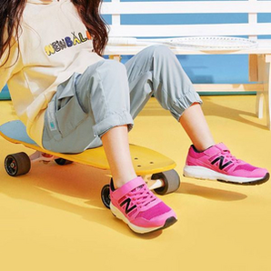 New Balance 女童网面休闲运动鞋  YT570PW(28~40码)