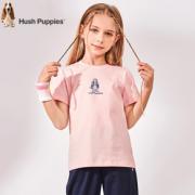 PLUS会员!Hush Puppies 暇步士 女童夏季短袖t恤¥48.00 2.3折