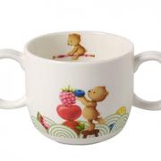 prime会员!Villeroy & Boch 德国唯宝 Hungry as a Bear饥饿小熊系列 儿童陶瓷杯带2个手柄 180ml  直邮含税到手¥76.69