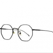 CHASM 多边形纯钛近视眼镜架配1.60超薄非球面镜片
