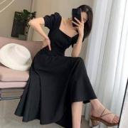 Bejirog 北极绒 BJRLYQ018H01 女士法式复古连衣裙