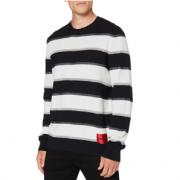 S码!HUGO Hugo Boss 雨果·博斯 Sanor 男士条纹圆领毛衣50430511 到手¥437.08