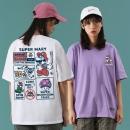 女士紫色卡通印花T恤