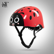 PUPA 蛹 CPSC认证大童儿童滑板头盔 瓢虫红色