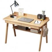 SENAZUOJU 塞纳左居 北欧全实木书桌 单桌 1m698元包邮(需用券)