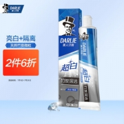 PLUS会员:DARLIE 黑人 超白竹炭深洁牙膏 120g8.76元