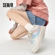Semir 鞋子 女 2021夏季新款 板鞋 小白鞋79.99元(需用券)