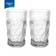 NERVISHI 乐唯诗 玻璃水杯 2个*380ml9.9元 包邮(需用券)
