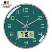 TIMESS 夜光中国码电波表 日期温度显示 自动对时分秒不差155元包邮