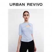 URBAN REVIVO WG10S4MN2011 女士V领短袖39元包邮