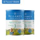 BELLAMY'S 贝拉米 有机婴幼儿配方奶粉 3段 900g*2罐装¥204.02 2.3折 比上一次爆料降低 ¥99.75
