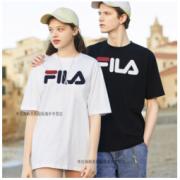 FILA 斐乐 男女情侣热卖新款圆领休闲经典LOGO减龄显瘦短袖T恤 oversize风 偏大一码