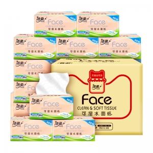 88VIP:C&S 洁柔 Face系列 抽纸 3层100抽30包(195mm*123mm)*2件+利得垃圾袋1卷
