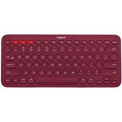 logitech 罗技 K380 79键 蓝牙无线薄膜键盘 红色