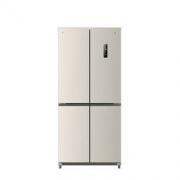 JIWU 苏宁极物 小Biu系列 JQE4428XP 单循环 风冷十字对开门冰箱 440L 金色2299元(包邮)