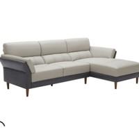 KUKa 顾家家居 8606 简约现代真皮沙发 2.5右单+躺左单