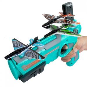 KIDNOAM 儿童泡沫飞机弹射玩具枪 含4只飞机
