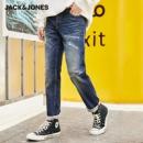 JACK&JONES 杰克琼斯 219432525 男士破洞弹力牛仔裤¥99.00 1.4折