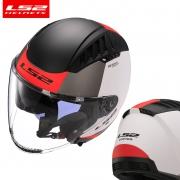 LS2 摩托车透气半盔 四分之三头盔 0F600男女蓝牙
